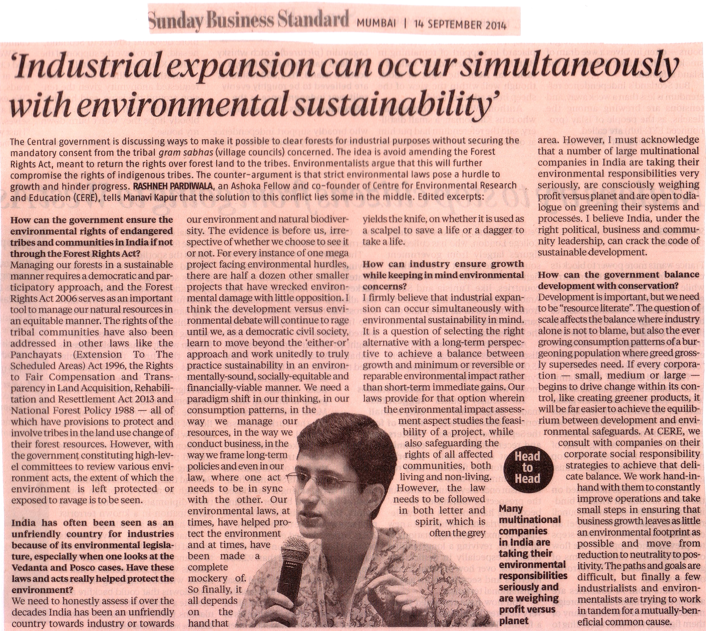 Business Standard - 14th September, 2014