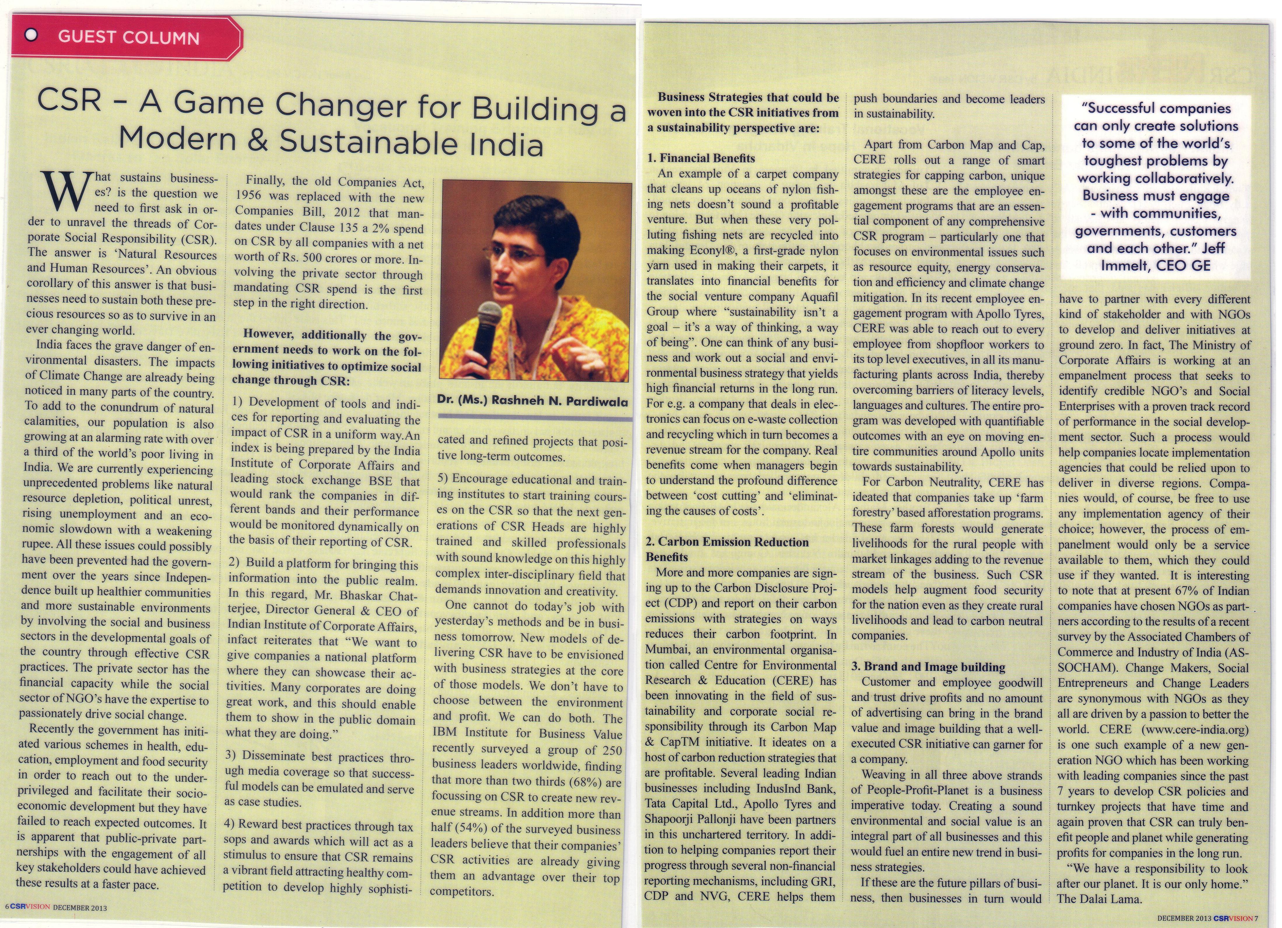 CSR Vision - December, 2013